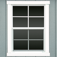 shed window trim instead of shutters 0
