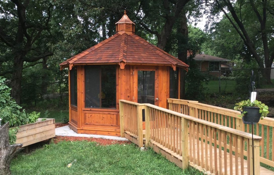 backyard gazebo from northwood industries in wisconsin