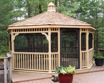 pine gazebo without pagoda