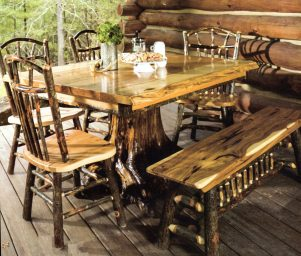 rustic decor dining room
