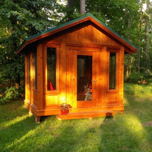 square wood gazebo