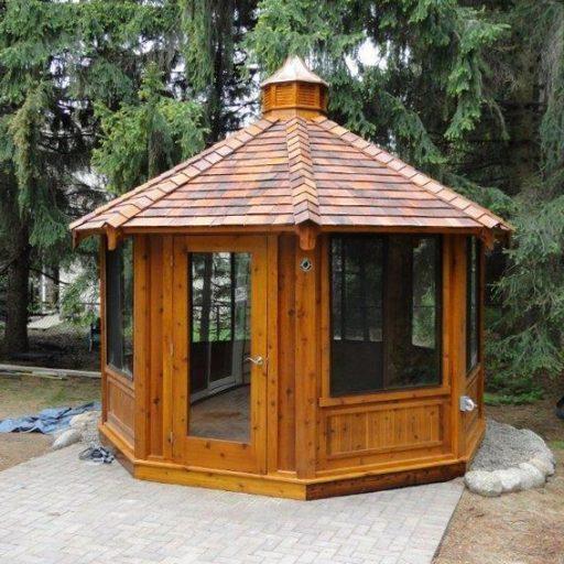 patio wood gazebo