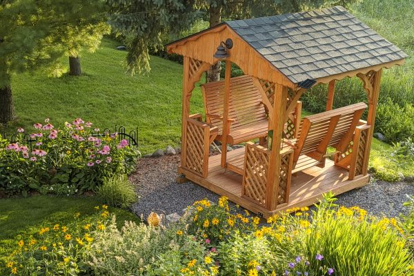 beautiful backyard glider swing