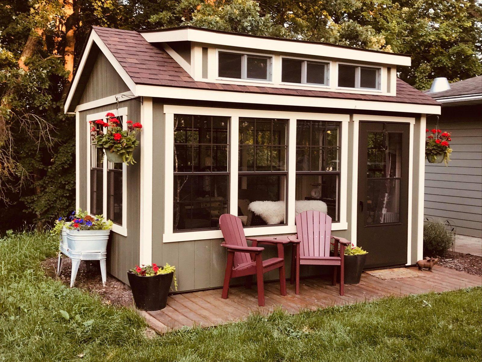 beautiful backyard hosting shed