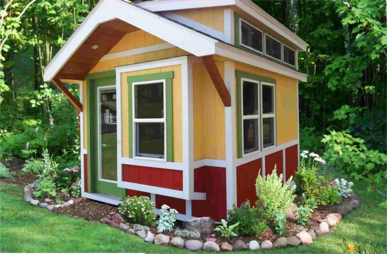 bunkhouse shed for hosting kids