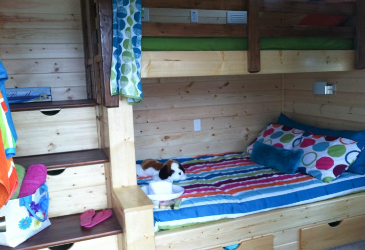 bunkhouse shed interior for sleeping
