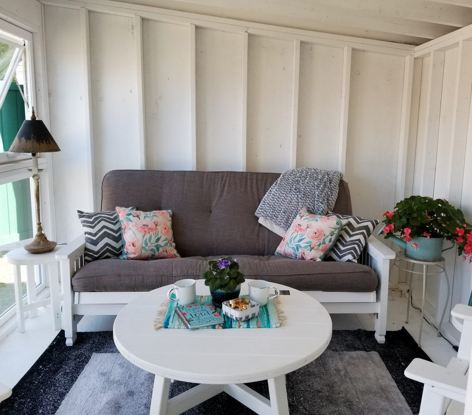 interior of customized guest house shed