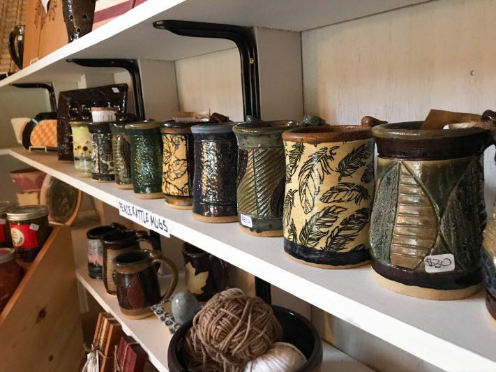 handmade pottery for sale in Spooner Wisconsin