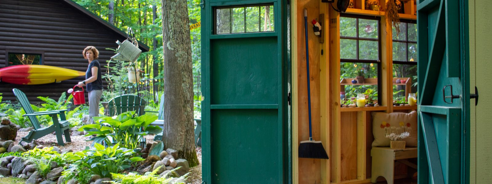 happy gardening in the perfect backyard she shed ideal for minnesota and wisconsin