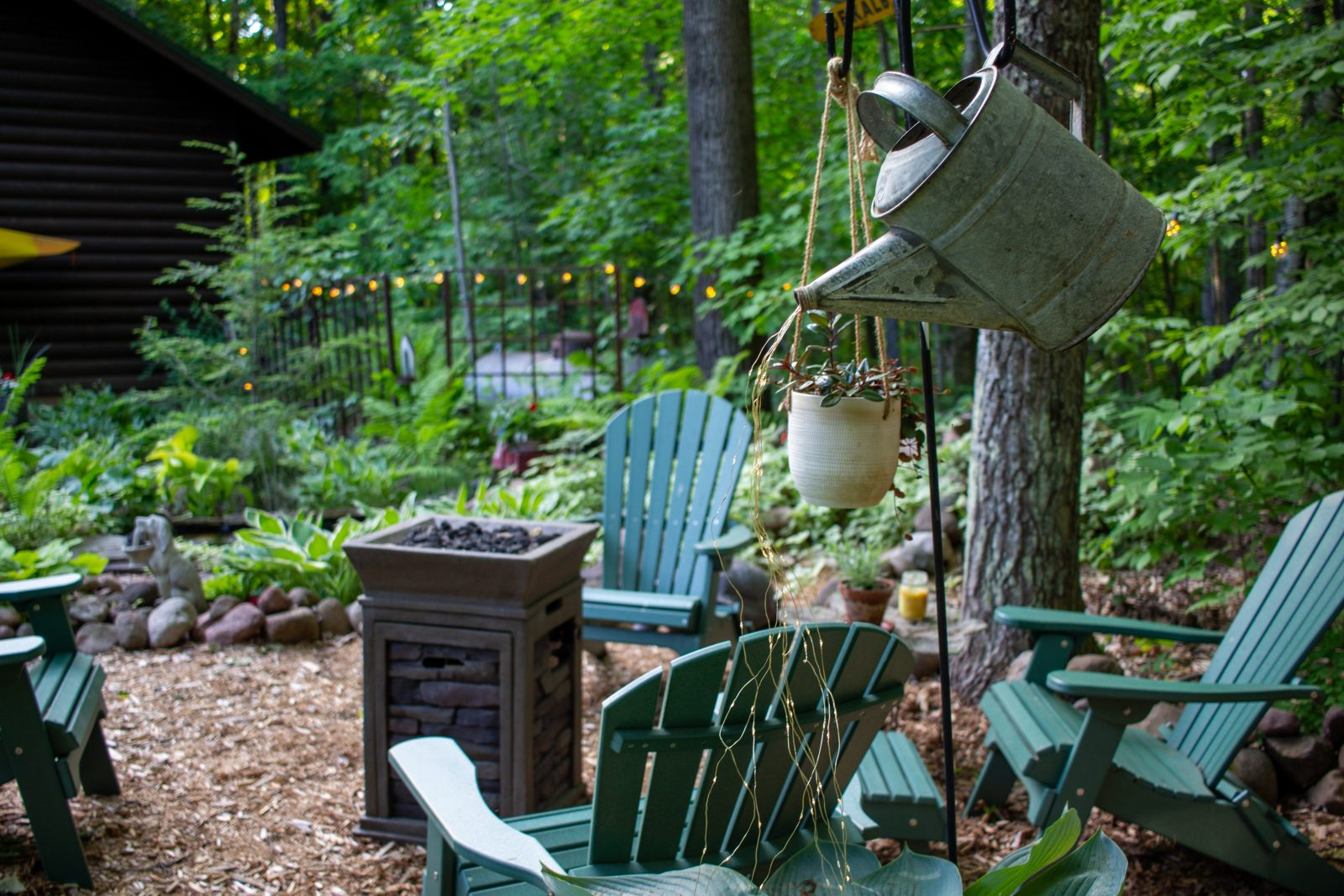 whimsical garden photo relaxation spot in wisconsin