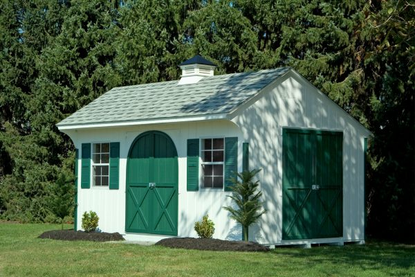 quaker shed with white cupola shed company near eden prairie minnesota
