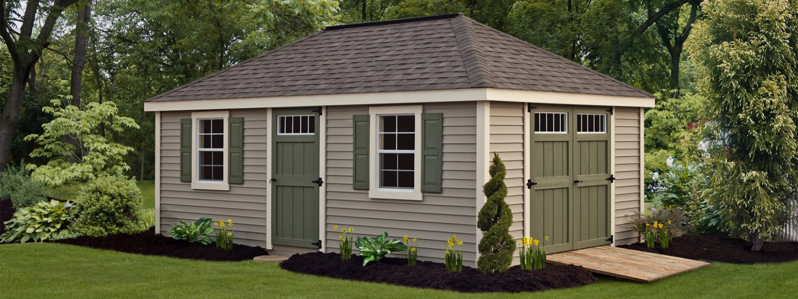 outdoor shed villa style by northwood industries mounds view minnesota