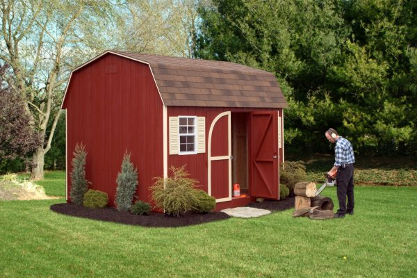 red 10x12 storage barn for self storage in golden valley minnesota