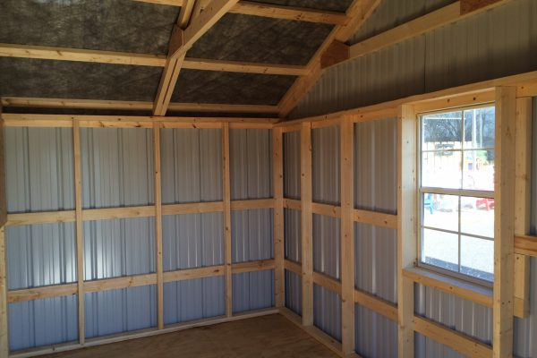 interior of steel garden sheds by northwood industries