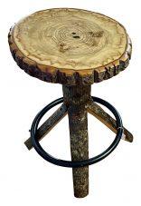 live edge swivel stool