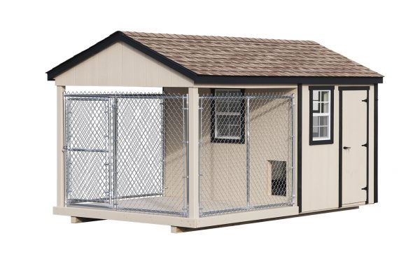 8x14 dog kennel with chain link fence northwood industries