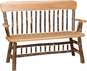 panel back deacon bench
