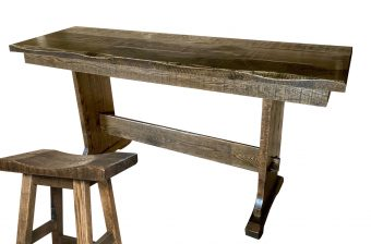 rustic counter trestle table