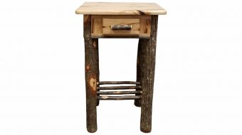 small square night stand hickory