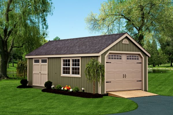 portable garage cape cod 12x24 with overhead door and ramp for sale in minneapolis minnesota