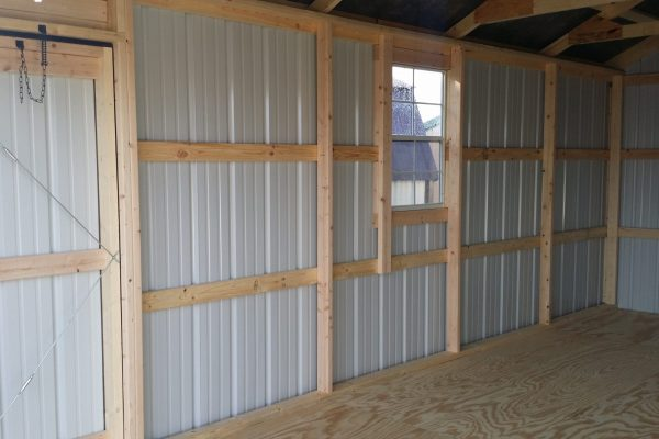 steel garage interior by northwood industries