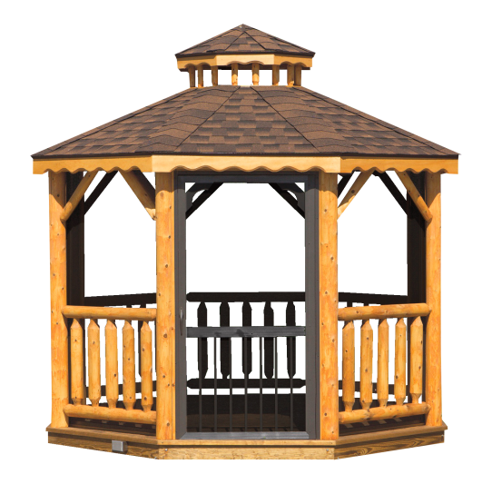 rustic log gazebo for sale near me in hayward wisconsin