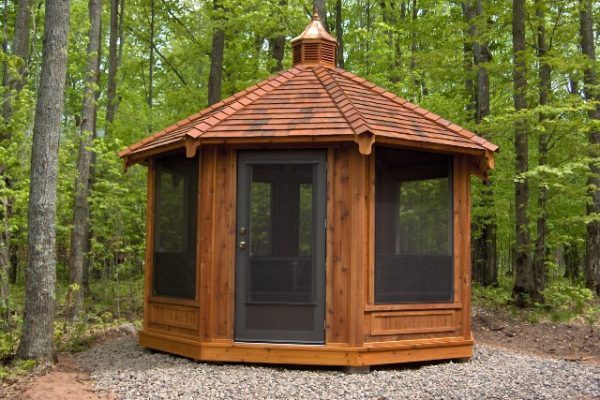 northwood industries royal cedar gazebo for park and lake front property