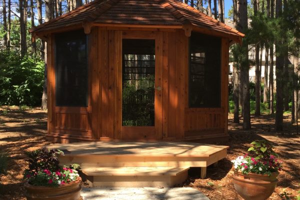 northwood industries royal cedar gazebo for vacation home