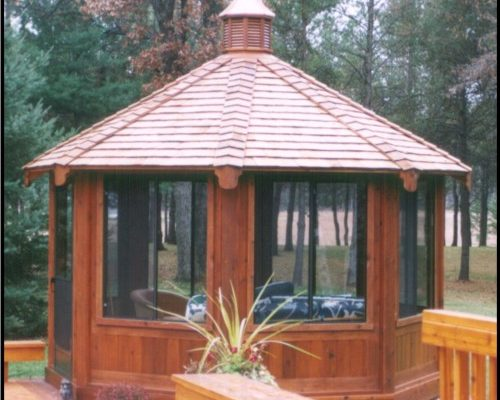 northwood industries royal cedar gazebo for vacation property