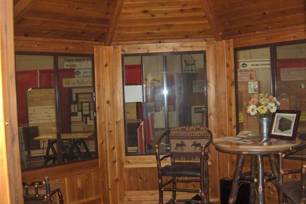 northwood industries royal cedar gazebo interior decorated