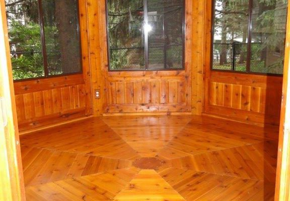 northwood industries royal cedar gazebo interior view
