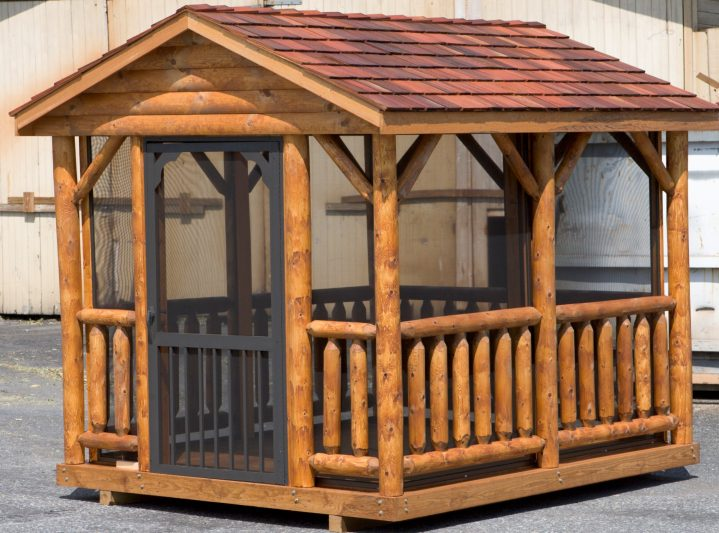 8x12 log pavilion for sale in wisconsin