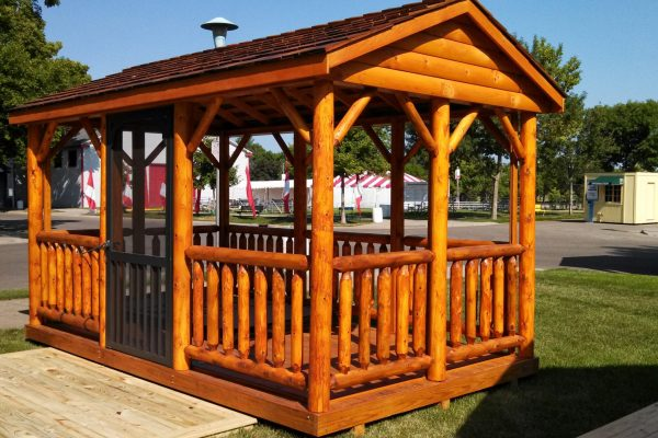 log pavilion for sale in hayward wisconsin
