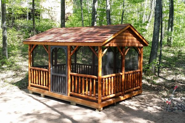 log pavilion for sale in minnesota northwood industries