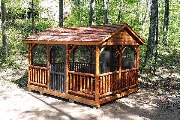 log pavilion for sale in minnesota northwood industries