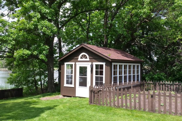 sunroom shed on lakefront property by northwood industries
