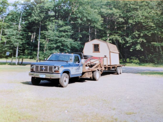 northwood industries shed company delivery truck in 1991