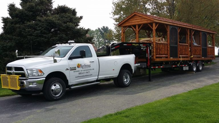 shed company northwood industries delivery truck