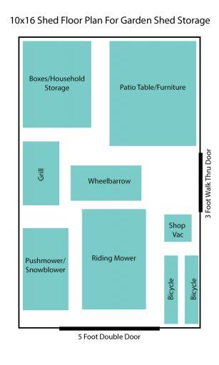 10x16 garden shed floor plan