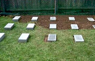 concrete blocks for storage shed pad