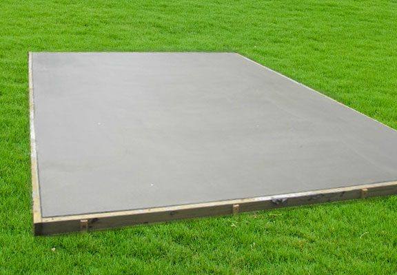 concrete pad for storage shed