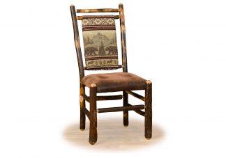 2 hickory medium back chair