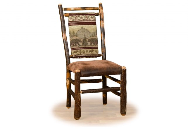 2 hickory medium back chair