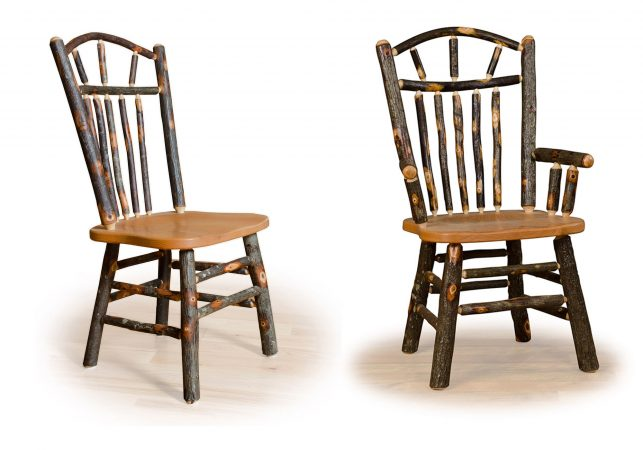6 hickory wagon wheel chairs
