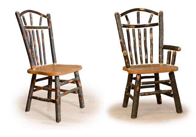 6 hickory wagon wheel chairs