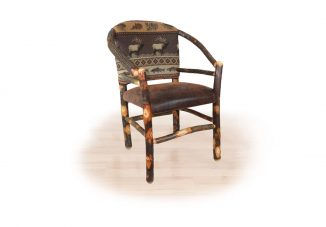 12 hickory low arm hoop chair