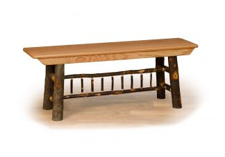 13 hickory spindle bench