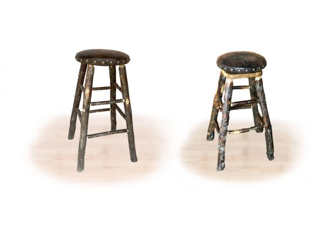 14 hickory padded stool