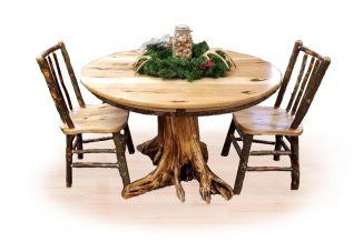 20 hickory stump table