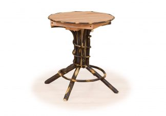 49 hickory pedestal end table